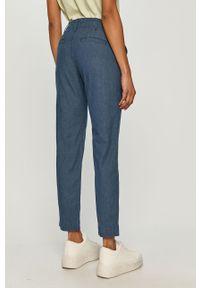 Niebieskie spodnie materiałowe GAP gładkie, casualowe, na co dzień