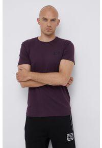 EA7 Emporio Armani - T-shirt. Okazja: na co dzień. Kolor: fioletowy. Materiał: dzianina, materiał. Wzór: gładki. Styl: casual