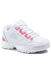 Kappa - Sneakersy KAPPA - Rave Mf 242681MF White/Mint 1037. Okazja: na spacer, na co dzień. Kolor: biały. Materiał: skóra ekologiczna, materiał. Szerokość cholewki: normalna. Sezon: lato. Styl: casual