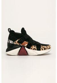 Czarne buty sportowe skechers z cholewką