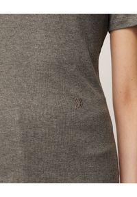 NANUSHKA - Szara koszulka Guy. Okazja: na co dzień. Kolor: szary. Materiał: bawełna, dzianina, dresówka, jeans. Wzór: melanż. Styl: casual