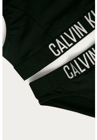 Czarny strój dwuczęściowy Calvin Klein gładki