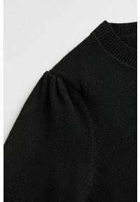 Czarny sweter Mango Kids na co dzień, casualowy