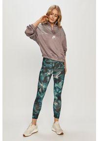 Szara bluza Nike Sportswear bez kaptura, z długim rękawem, na co dzień, casualowa