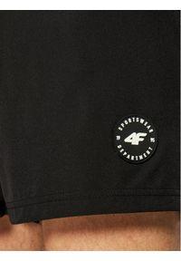 4f - 4F Szorty kąpielowe H4L21-SKMT001 Czarny Regular Fit. Kolor: czarny