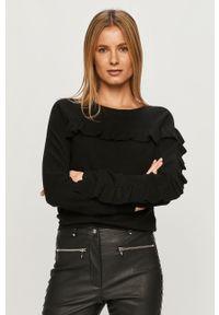 Czarny sweter Silvian Heach na co dzień, długi, z długim rękawem