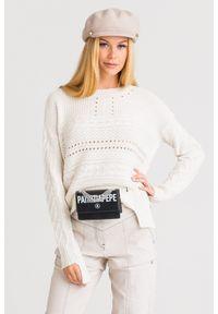 Sweter Patrizia Pepe z długim rękawem, na spacer, krótki