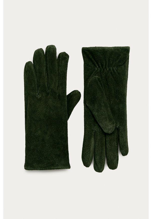 Zielone rękawiczki Pieces