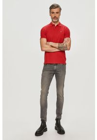 Czerwona koszulka polo Calvin Klein krótka, polo