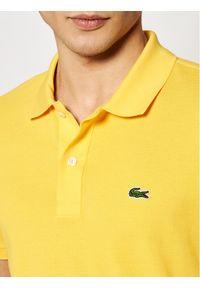 Lacoste Polo PH4012 Żółty Slim Fit. Typ kołnierza: polo. Kolor: żółty