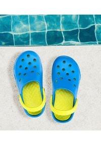 REALPAKS - Klapki dziecięce Realpaks F-401 Niebiesko-Zielone. Okazja: na plażę. Kolor: niebieski, zielony, wielokolorowy. Materiał: tworzywo sztuczne. Styl: młodzieżowy