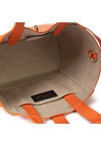 Pomarańczowa torebka klasyczna Furla klasyczna