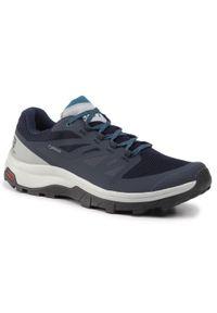 Niebieskie buty trekkingowe salomon z cholewką, trekkingowe, Gore-Tex