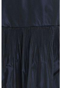 Beatrice B - Sukienka. Kolor: niebieski. Materiał: tkanina. Długość rękawa: długi rękaw. Wzór: gładki. Typ sukienki: rozkloszowane