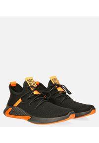Casu - czarne buty sportowe sznurowane casu 20a8/o. Kolor: pomarańczowy, czarny, wielokolorowy