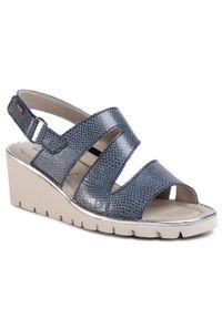 Niebieskie sandały Callaghan casualowe, na co dzień