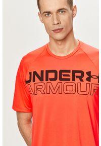 Pomarańczowy t-shirt Under Armour z nadrukiem