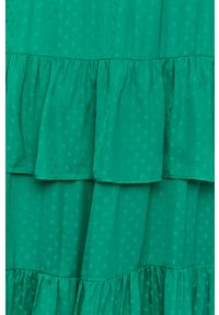 Zielona sukienka Vila maxi, w grochy, prosta