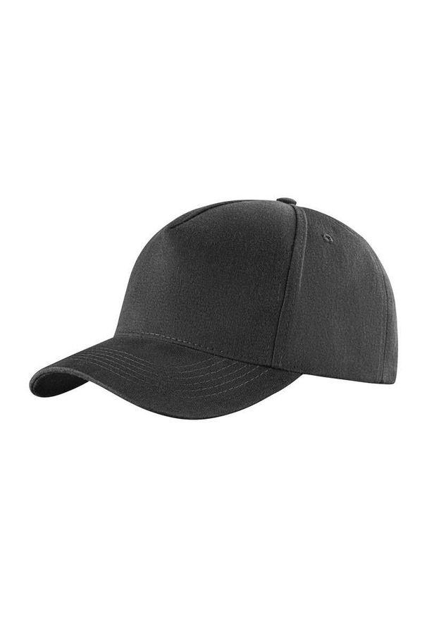 Szara czapka Janpol na lato, z haftami
