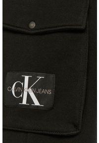 Czarne szorty Calvin Klein Jeans gładkie, casualowe