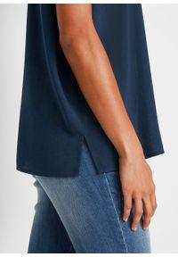 Bluzka boxy, krótki rękaw bonprix ciemnoniebieski. Kolor: niebieski. Długość rękawa: krótki rękaw. Długość: krótkie