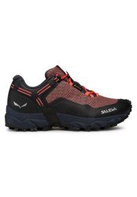 Różowe buty trekkingowe Salewa Gore-Tex, z cholewką