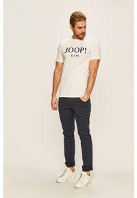 Biały t-shirt JOOP! casualowy, z nadrukiem, na co dzień
