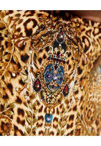 Camilla - CAMILLA - Dół od bikini Lady Lodge. Stan: podwyższony. Kolor: brązowy. Materiał: tkanina. Wzór: motyw zwierzęcy, aplikacja