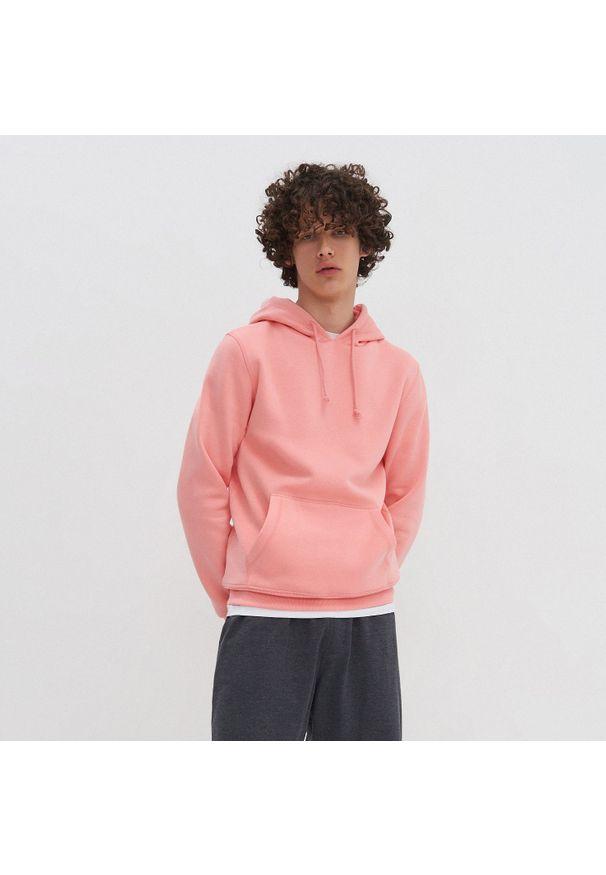 House - Bluza z kapturem basic - Różowy. Typ kołnierza: kaptur. Kolor: różowy