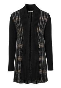Czarny sweter Freequent w prążki, na jesień