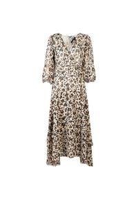"""Liu Jo - Liu-Jo Sukienka """"Manhattan"""". Okazja: na co dzień. Materiał: tkanina. Typ sukienki: kopertowe, proste. Styl: casual. Długość: midi"""