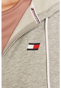 Szara bluza rozpinana Tommy Sport sportowa, z kapturem