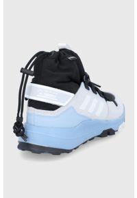 adidas Performance - Buty Terrex Hikster Mid. Nosek buta: okrągły. Zapięcie: sznurówki. Kolor: szary. Materiał: polar, guma. Szerokość cholewki: normalna