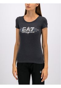EA7 Emporio Armani T-Shirt 6GTT19 TJ12Z 3909 Szary Regular Fit. Kolor: szary