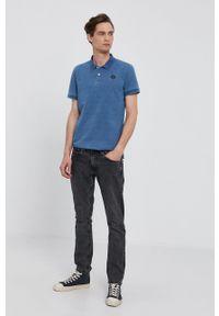 Pepe Jeans - T-shirt MAURO. Okazja: na co dzień. Kolor: niebieski. Materiał: dzianina. Długość: krótkie. Wzór: gładki. Styl: casual