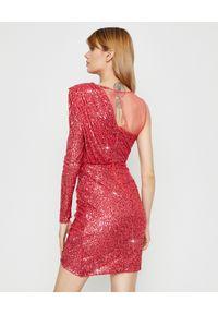 Czerwona sukienka mini Elisabetta Franchi na imprezę, elegancka