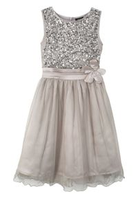 Sukienka na uroczyste okazje bonprix srebrny kolor. Kolor: srebrny