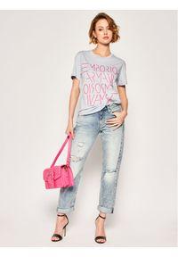 Emporio Armani T-Shirt 3H2T7B 2JSYZ 0808 Fioletowy Regular Fit. Kolor: fioletowy