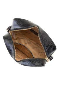 Wittchen - Damska listonoszka pudełkowa. Kolor: wielokolorowy, złoty, czarny. Materiał: skórzane. Styl: klasyczny. Rodzaj torebki: na ramię