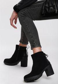 Czarne botki na obcasie Renee #5
