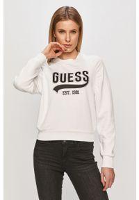 Biała bluza Guess na co dzień, bez kaptura