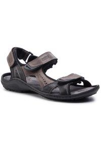 Brązowe sandały Helios na lato, klasyczne