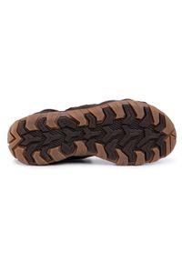 Lanetti - Sandały LANETTI - MBS-ROS-06 Brown 1. Okazja: na spacer. Kolor: brązowy. Materiał: skóra, materiał. Sezon: lato. Styl: klasyczny