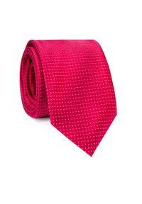 Czerwony krawat Giacomo Conti w kolorowe wzory