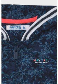 Niebieska bluza rozpinana Mayoral casualowa, na co dzień, z kapturem