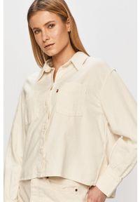 Levi's® - Levi's - Koszula jeansowa. Okazja: na spotkanie biznesowe. Kolor: beżowy. Materiał: jeans. Styl: biznesowy