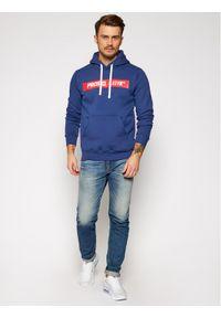 Prosto. - PROSTO. Bluza KLASYK Goos 9152 Granatowy Regular Fit. Kolor: niebieski