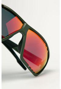 Oliwkowe okulary przeciwsłoneczne Uvex prostokątne