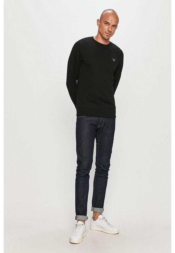 Czarna bluza nierozpinana GANT na co dzień, casualowa, bez kaptura