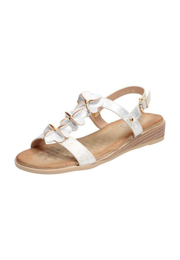 Srebrne sandały S.Barski klasyczne